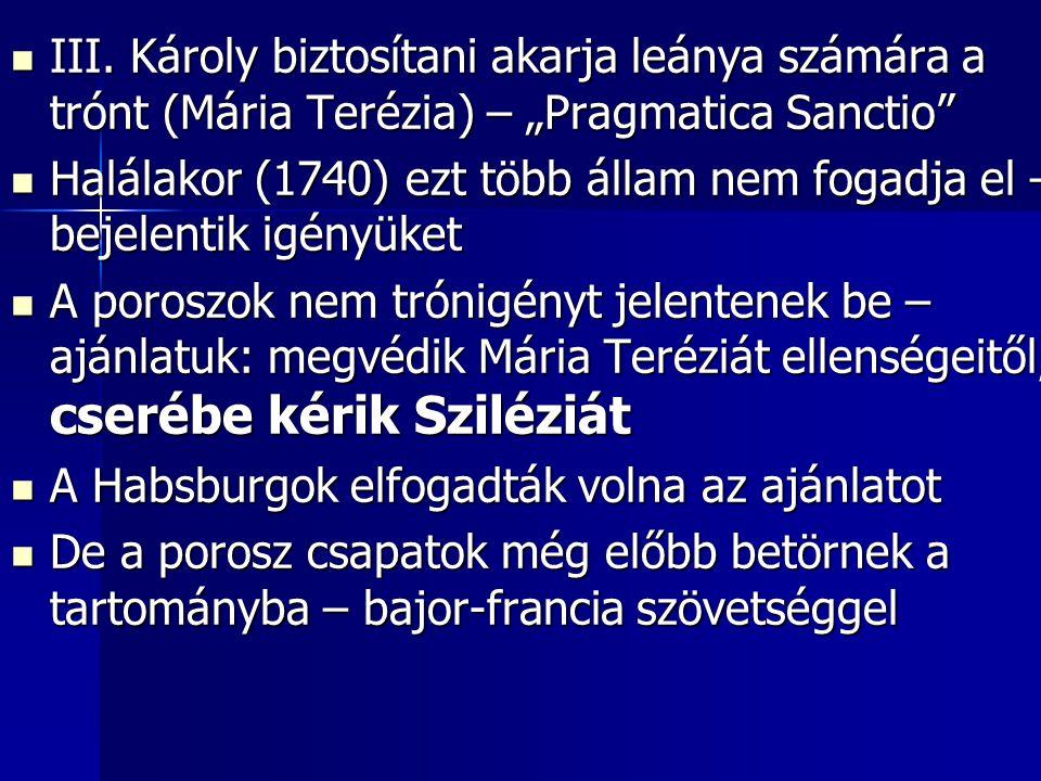 """III. Károly biztosítani akarja leánya számára a trónt (Mária Terézia) – """"Pragmatica Sanctio"""" III. Károly biztosítani akarja leánya számára a trónt (Má"""