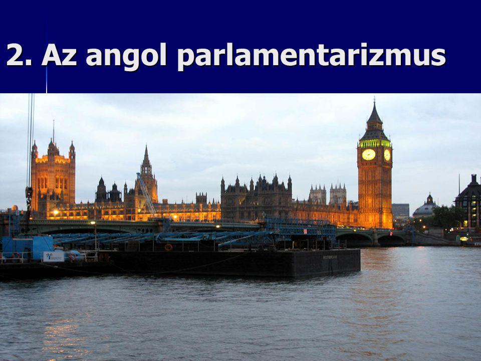 2. Az angol parlamentarizmus