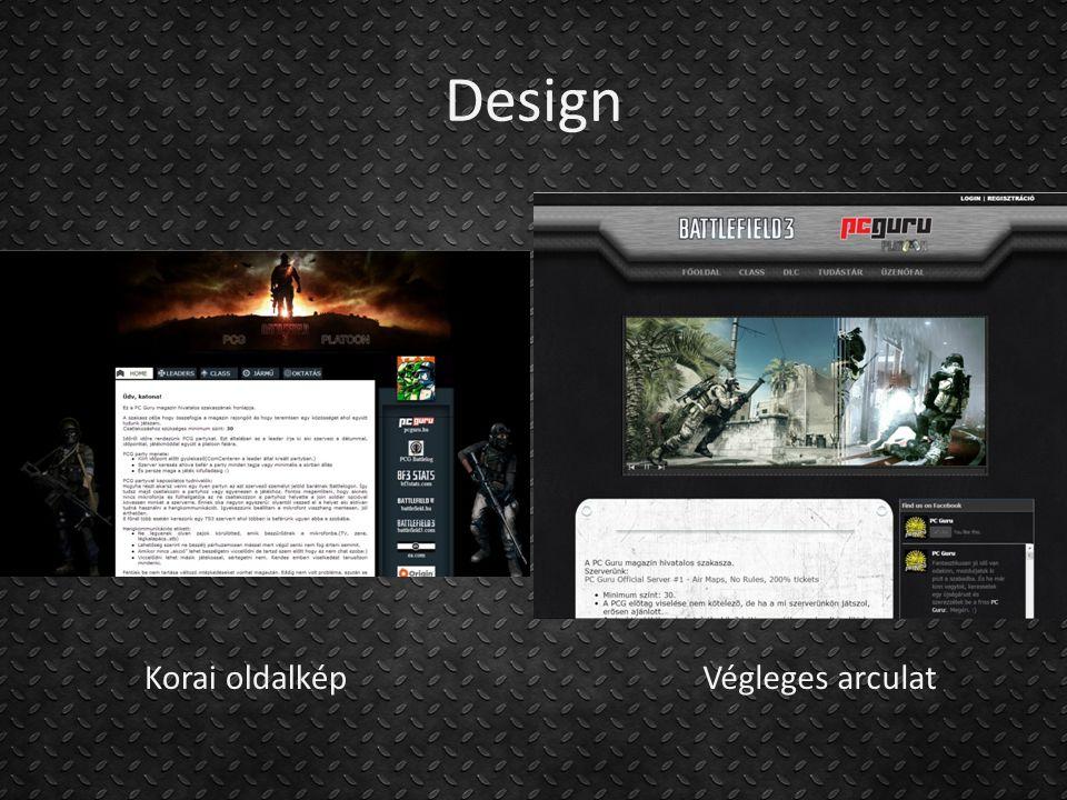 Design Korai oldalképVégleges arculat