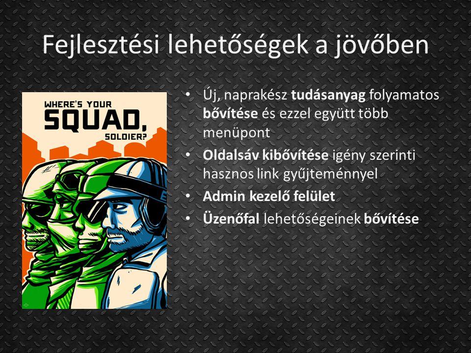 Köszönöm a figyelmet! http://pcgplatoon.atw.hu/