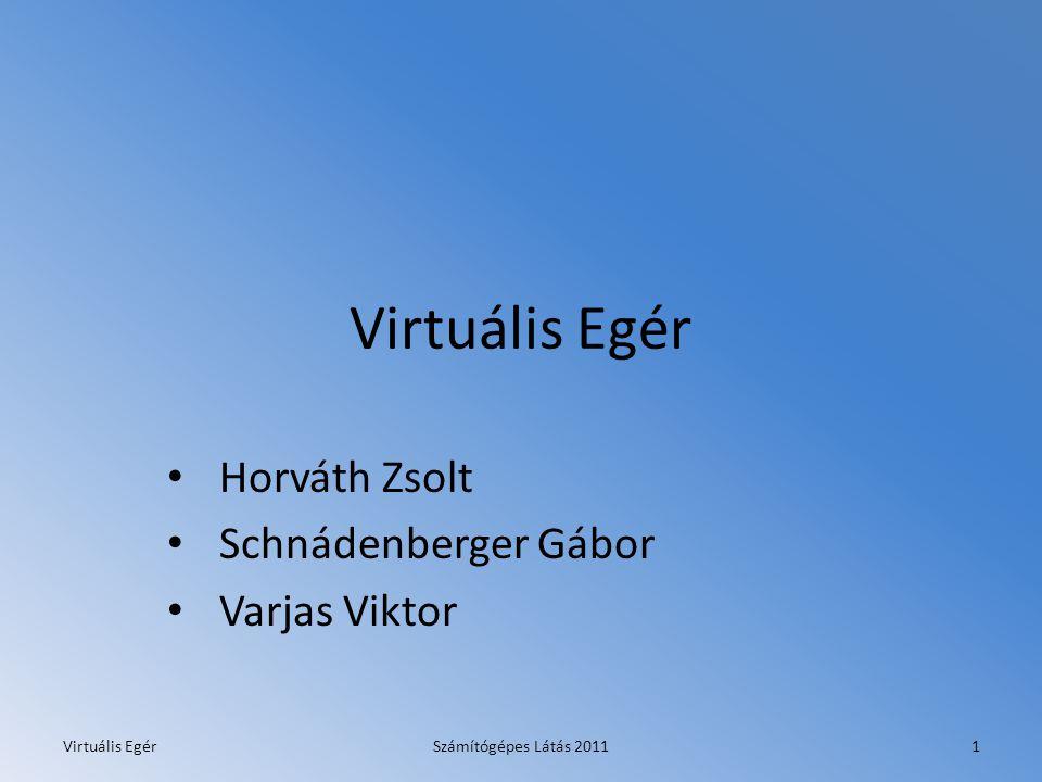 Virtuális Egér Horváth Zsolt Schnádenberger Gábor Varjas Viktor Virtuális EgérSzámítógépes Látás 20111