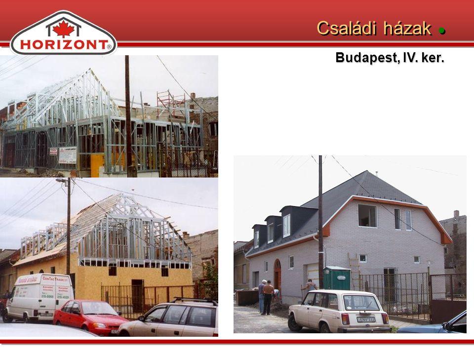 Budapest, IV. ker. Családi házak ●