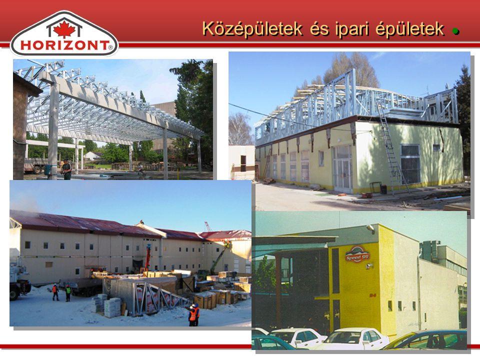 Középületek és ipari épületek ●