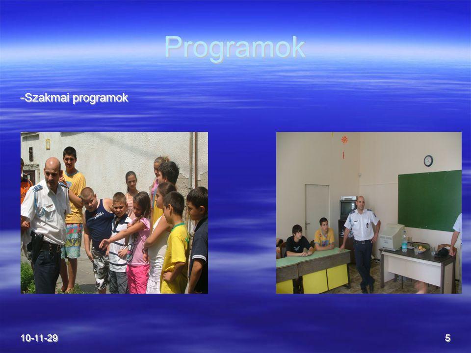 10-11-295 Programok - Szakmai programok