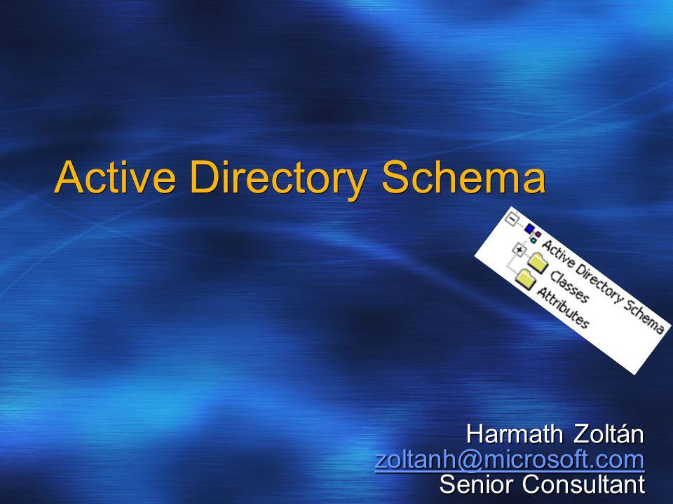 Harmath Zoltán zoltanh@microsoft.com Senior Consultant Active Directory Schema