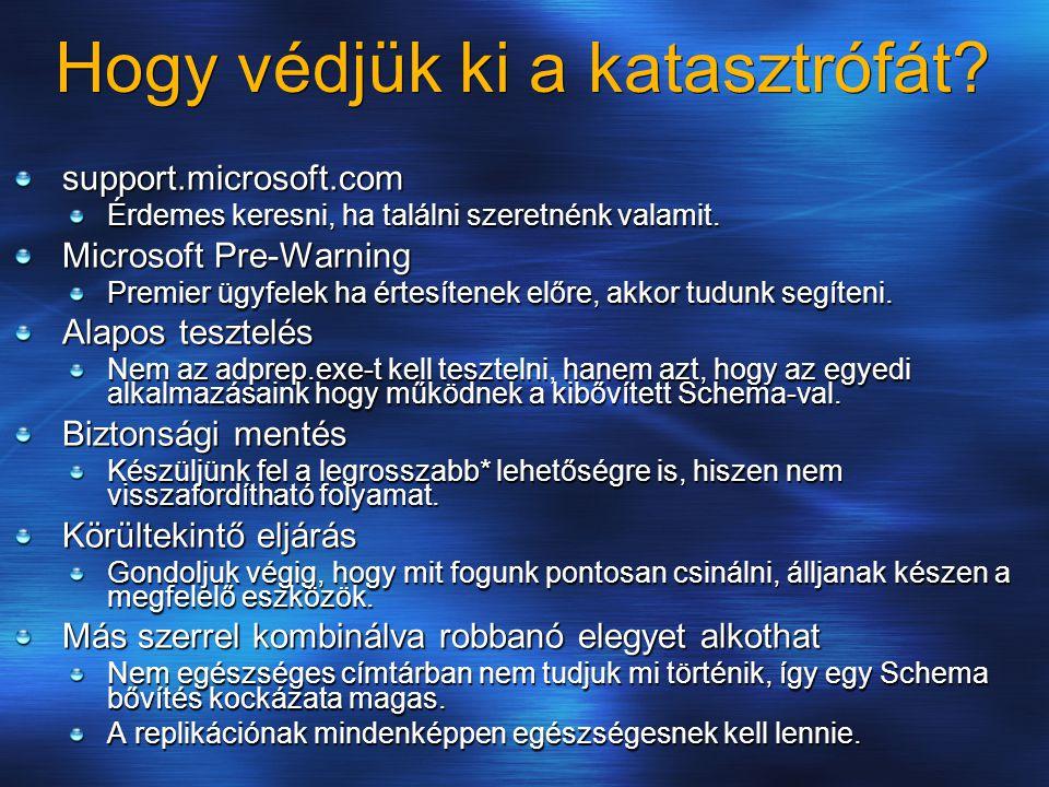 Hogy védjük ki a katasztrófát? support.microsoft.com Érdemes keresni, ha találni szeretnénk valamit. Microsoft Pre-Warning Premier ügyfelek ha értesít
