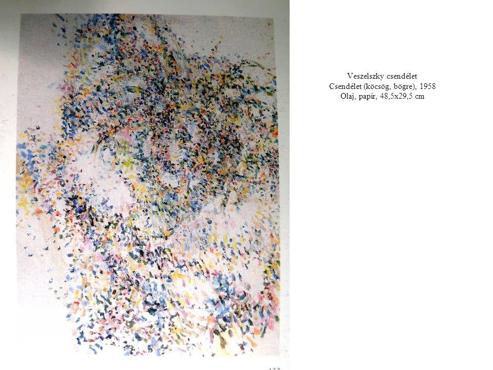 Veszelszky csendélet Csendélet (köcsög, bögre), 1958 Olaj, papír, 48,5x29,5 cm