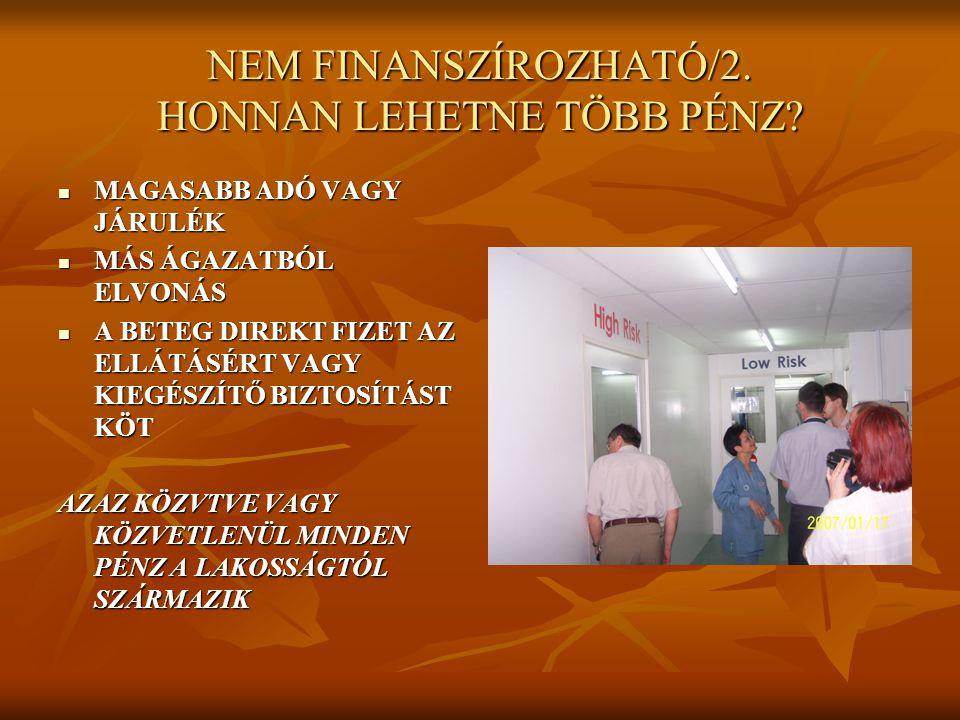 NEM FINANSZÍROZHATÓ/2. HONNAN LEHETNE TÖBB PÉNZ.