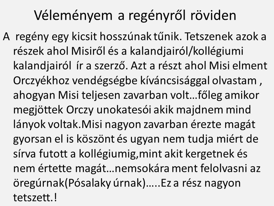 Misi,(Misi amikor felolvas)