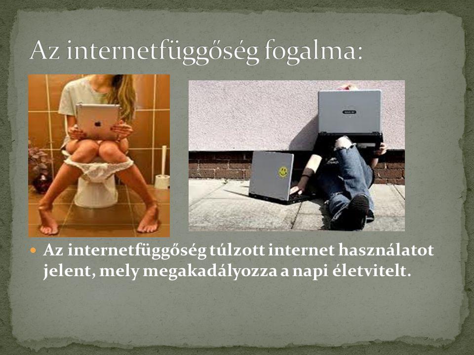 Az internetfüggőség túlzott internet használatot jelent, mely megakadályozza a napi életvitelt.