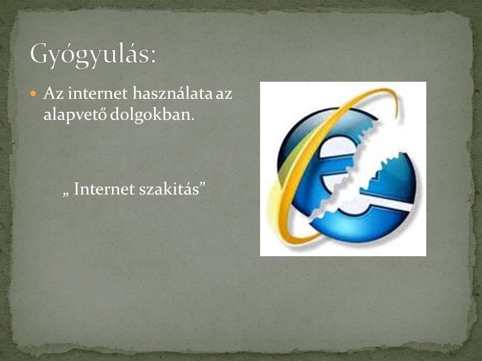 """Az internet használata az alapvető dolgokban. """" Internet szakitás"""