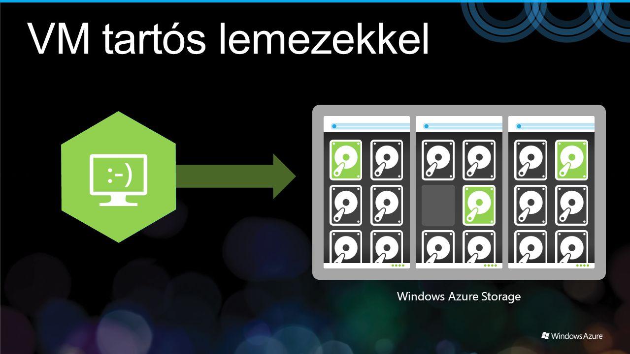 Windows Azure Storage VM tartós lemezekkel