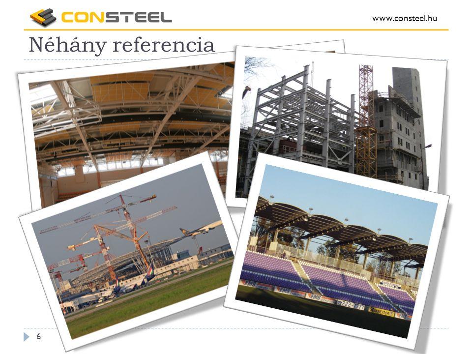 Néhány referencia www.consteel.hu 7