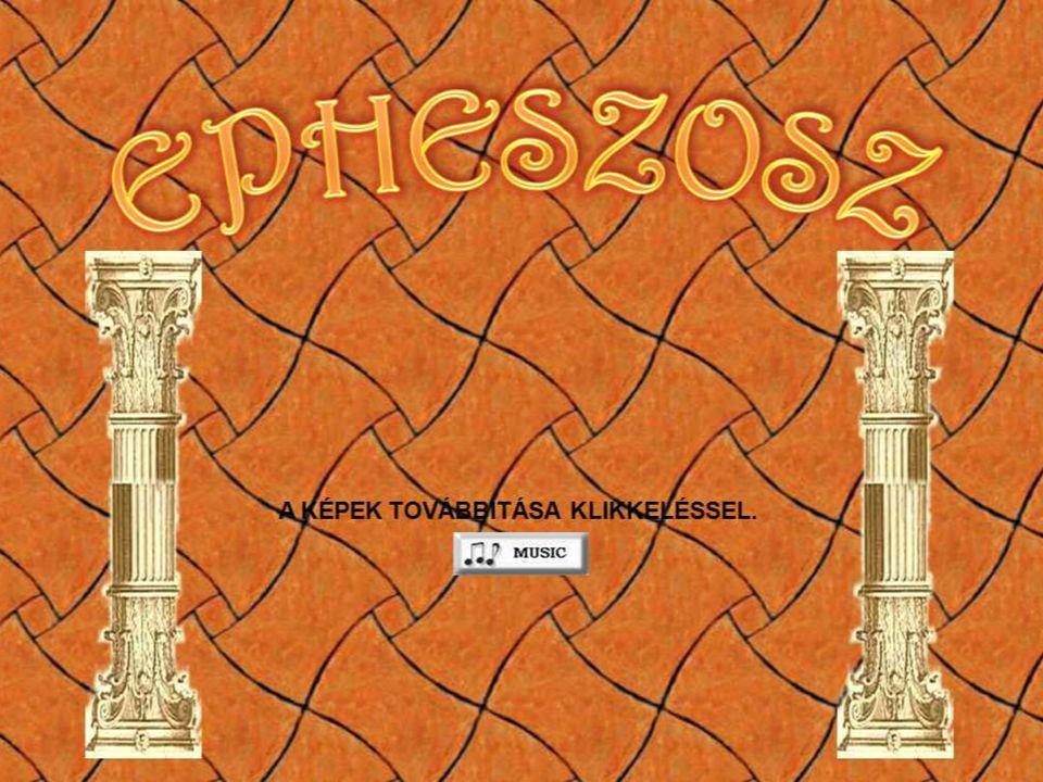 A színház és az Arkadiana út : Epheszosz legjobb állapotban megmaradt épülete.