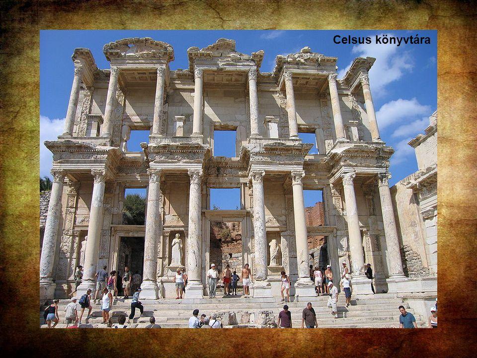 Celsus könyvtára : Caius Iulius Aquila emeltette i.sz. 135-ben apja, Tiberius Iulius Polemeanus, Ásia provincia konzuljának emléke előtt tisztelegve.