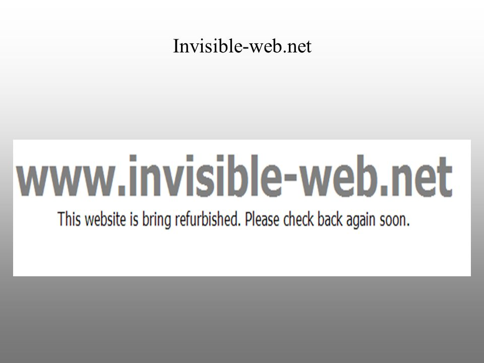 Invisible-web.net