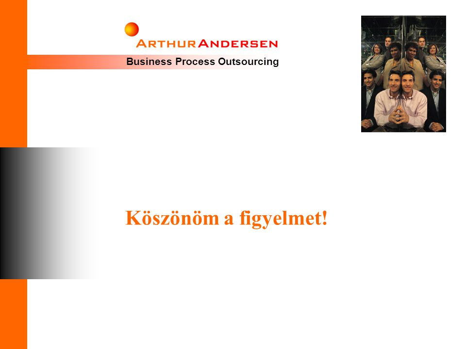 Business Process Outsourcing Köszönöm a figyelmet!