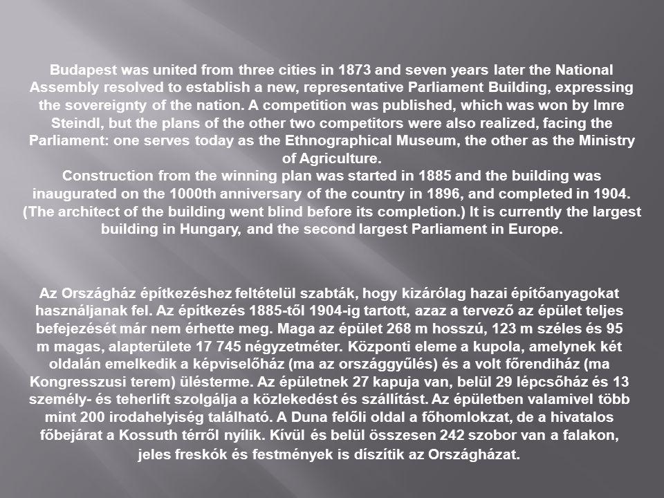 Az Országház építkezéshez feltételül szabták, hogy kizárólag hazai építőanyagokat használjanak fel.