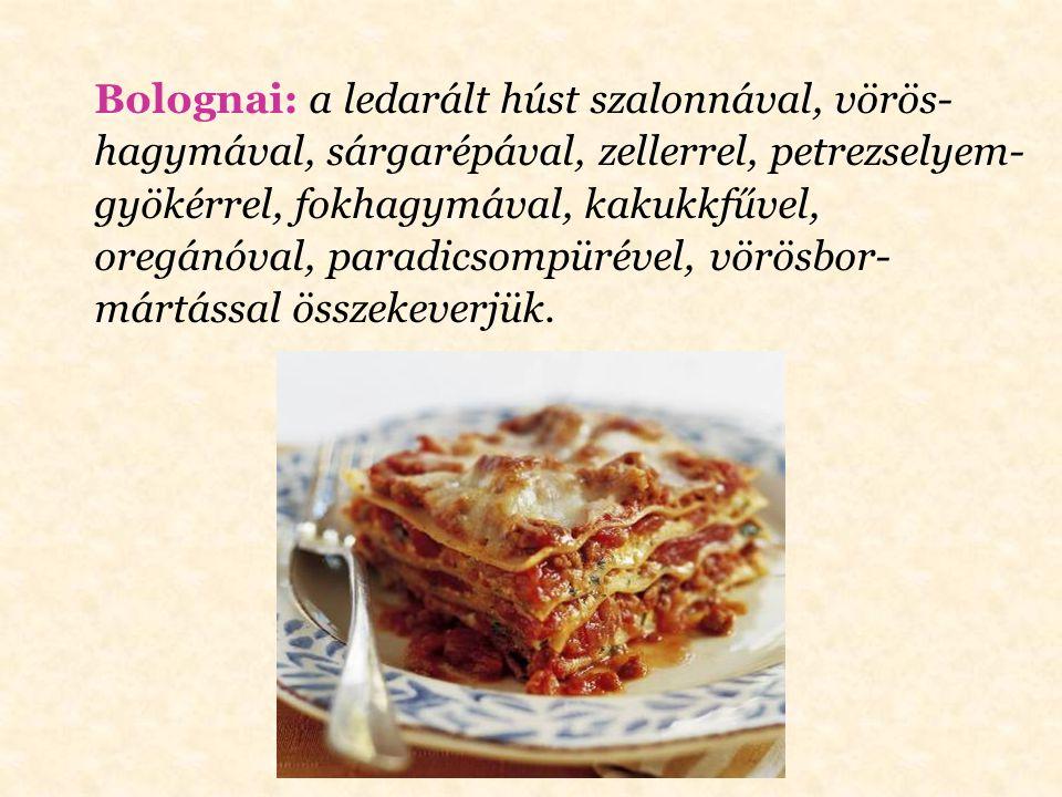 Bécsi: az előkészített ételt először lisztbe, majd felvert tojásba, végül zsemlemorzsába forgatjuk.