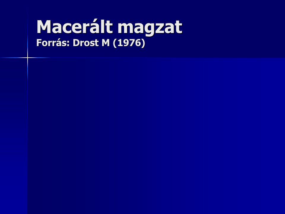 Macerált magzat Forrás: Drost M (1976)