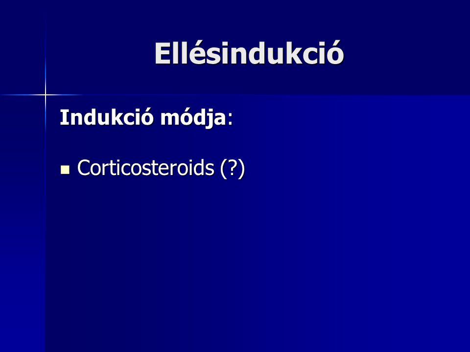 Ellésindukció Indukció módja: Corticosteroids (?) Corticosteroids (?)