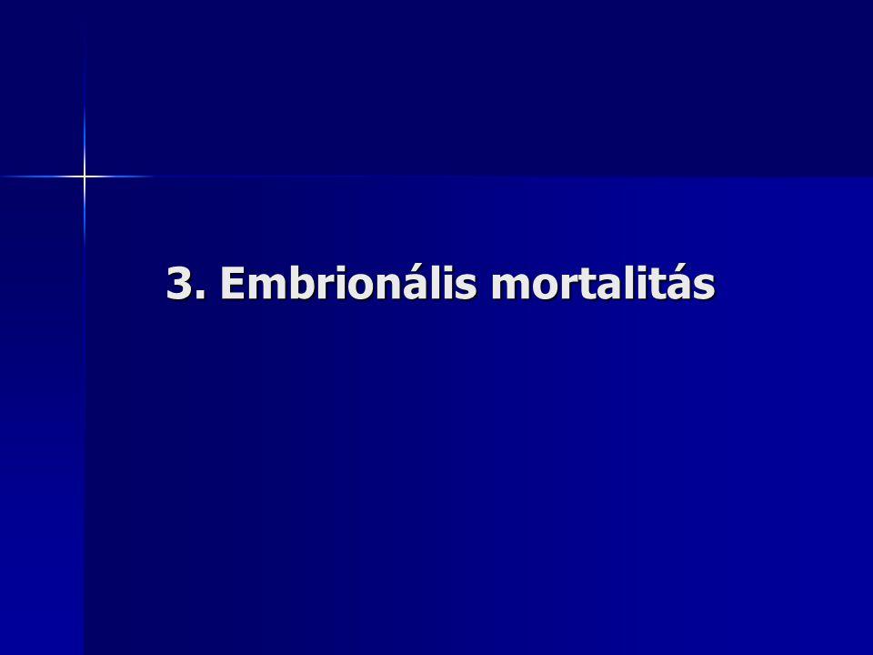3. Embrionális mortalitás