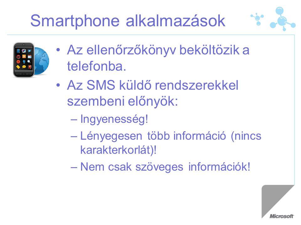 Smartphone alkalmazások Az ellenőrzőkönyv beköltözik a telefonba.