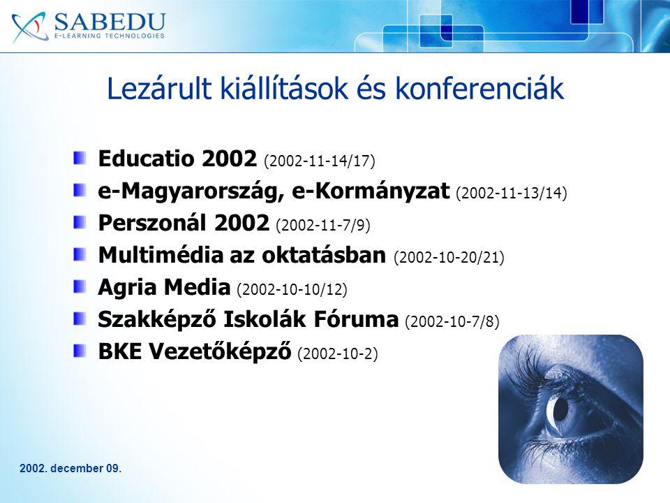 2002.december 09. Az oktatási ágazat partnerei 1.