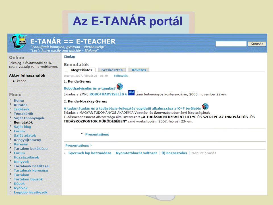 1. Kende-Seres: Robothadviselés és e- tanulás? Előadás a ZMNE ROBO THADVISELÉS 6 című tudományos konferenciáján, 2006. november 22-én. 2. Kende-Noszka
