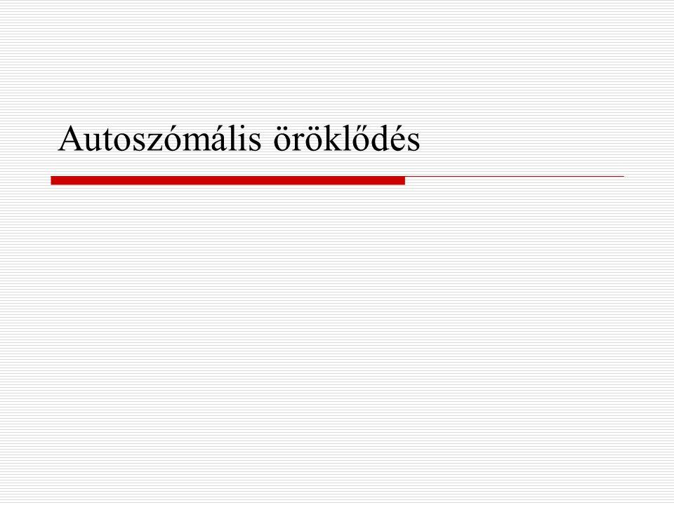 Autoszómális öröklődés
