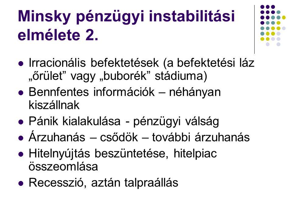 Minsky pénzügyi instabilitási elmélete 2.