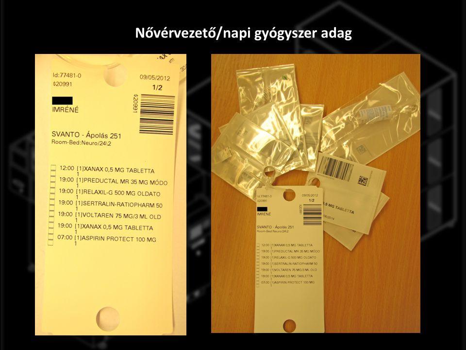 Nővérvezető/napi gyógyszer adag