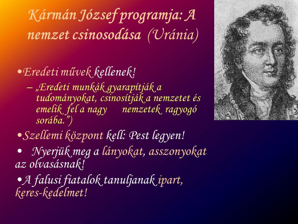 """Kármán József programja: A nemzet csinosodása (Uránia) Eredeti művek kellenek! –""""Eredeti munkák gyarapítják a tudományokat, csinosítják a nemzetet és"""
