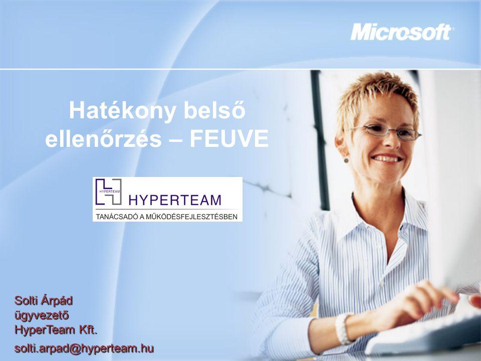Hatékony belső ellenőrzés – FEUVE Solti Árpád ügyvezető HyperTeam Kft. solti.arpad@hyperteam.hu
