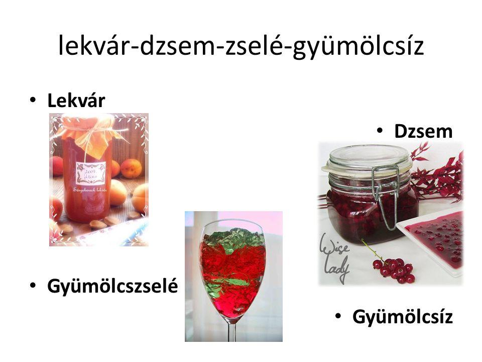 lekvár-dzsem-zselé-gyümölcsíz Lekvár Dzsem Gyümölcszselé Gyümölcsíz