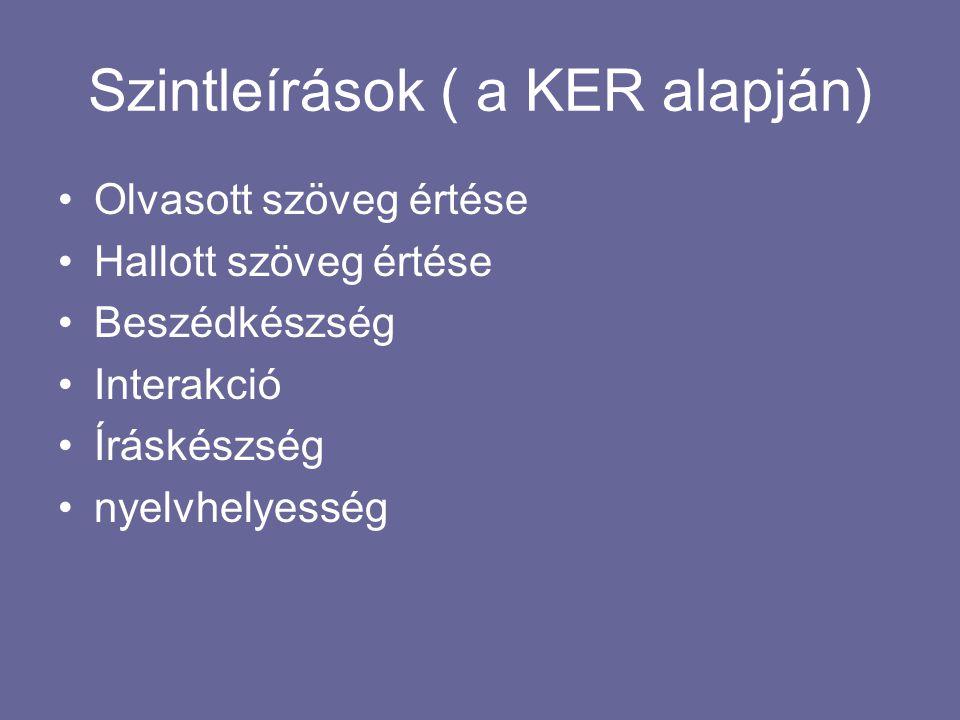 Felhasznált irodalom: Nemzeti Alap Tanterv, Magyar Közlöny, 2012.évi.66 sz.10680- 10685 o.