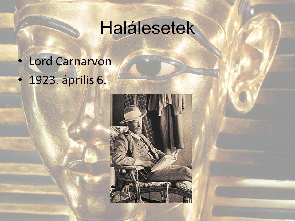 Halálesetek Lord Carnarvon 1923. április 6.