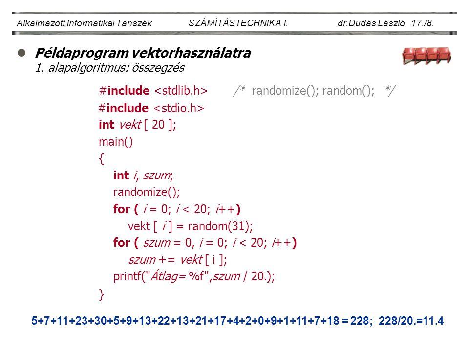 lPéldaprogram vektorhasználatra 1.