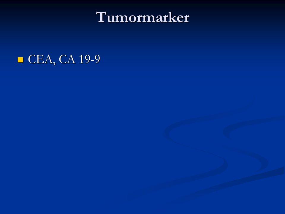Tumormarker CEA, CA 19-9 CEA, CA 19-9