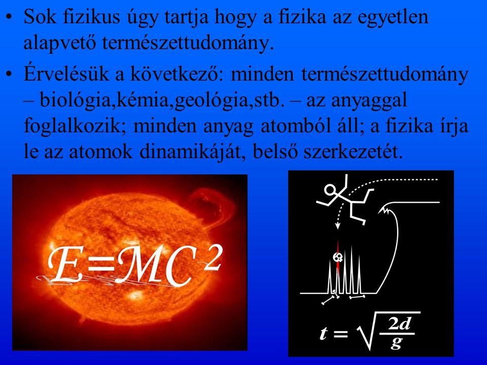 Sok fizikus úgy tartja hogy a fizika az egyetlen alapvető természettudomány. Érvelésük a következő: minden természettudomány – biológia,kémia,geológia