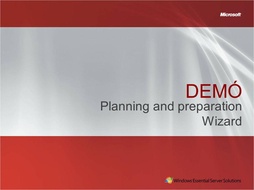 DEMÓ Planning and preparation Wizard