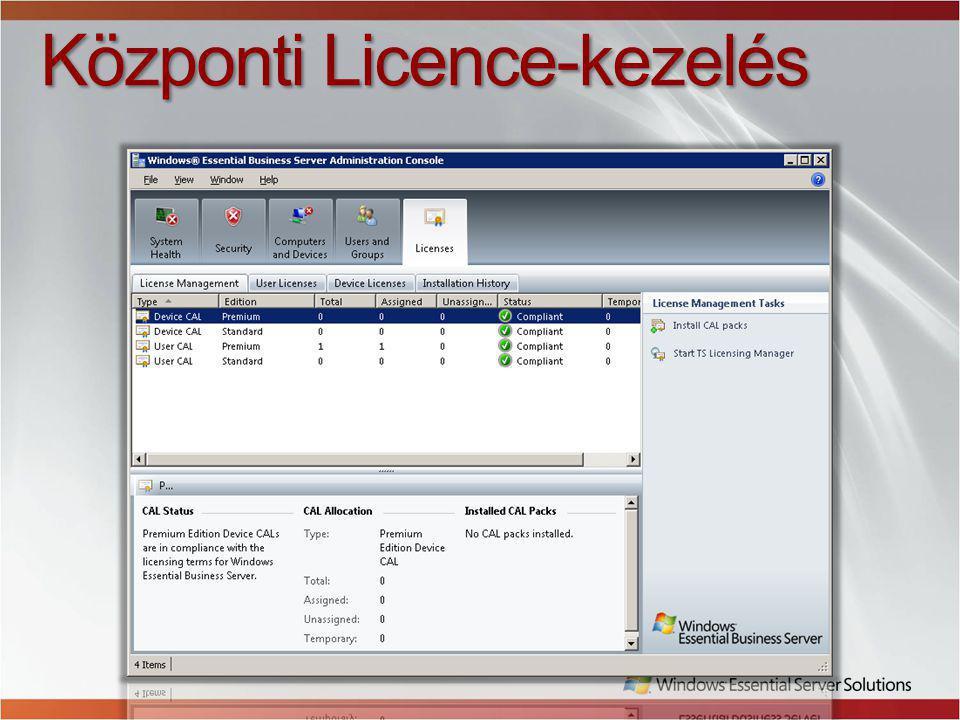Központi Licence-kezelés