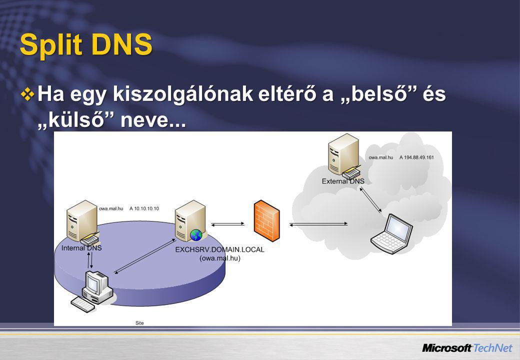 """Split DNS  Ha egy kiszolgálónak eltérő a """"belső"""" és """"külső"""" neve..."""