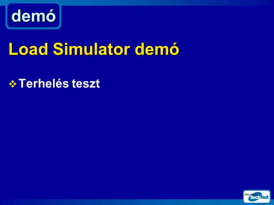  Terhelés teszt demó Load Simulator demó
