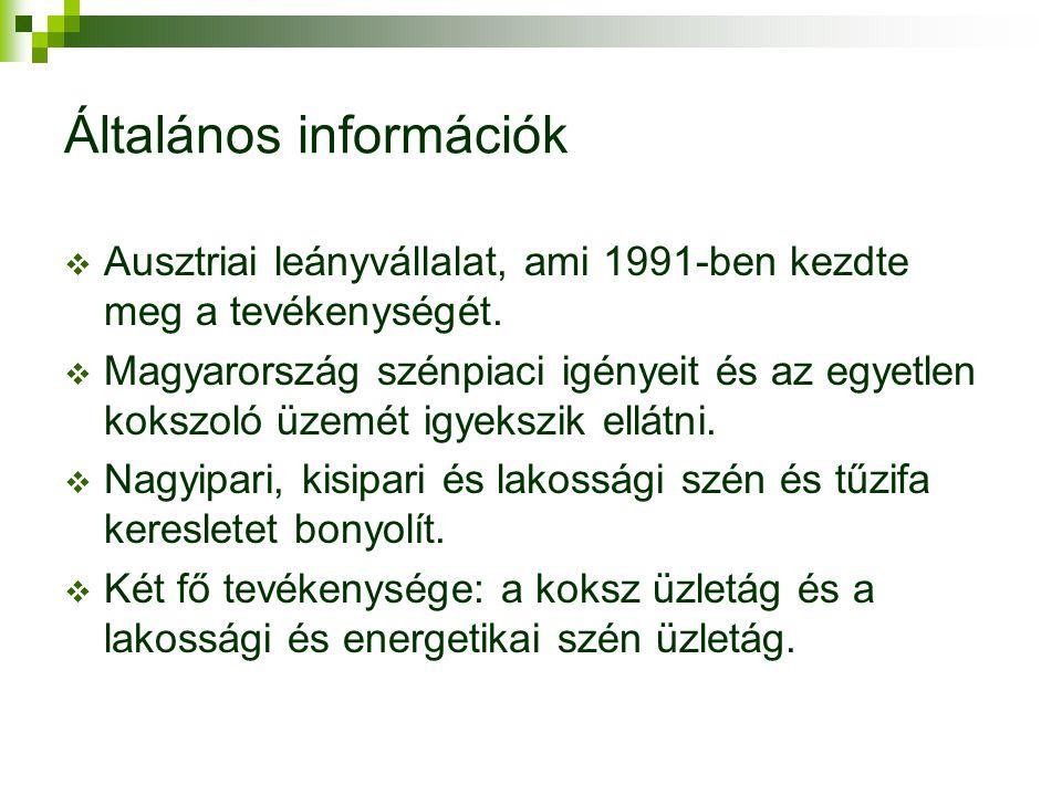 Általános információk  Ausztriai leányvállalat, ami 1991-ben kezdte meg a tevékenységét.