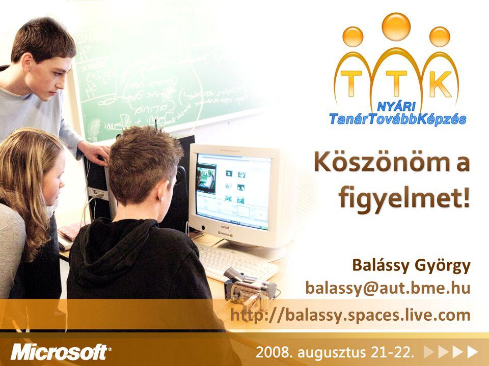 Balássy György balassy@aut.bme.hu http://balassy.spaces.live.com