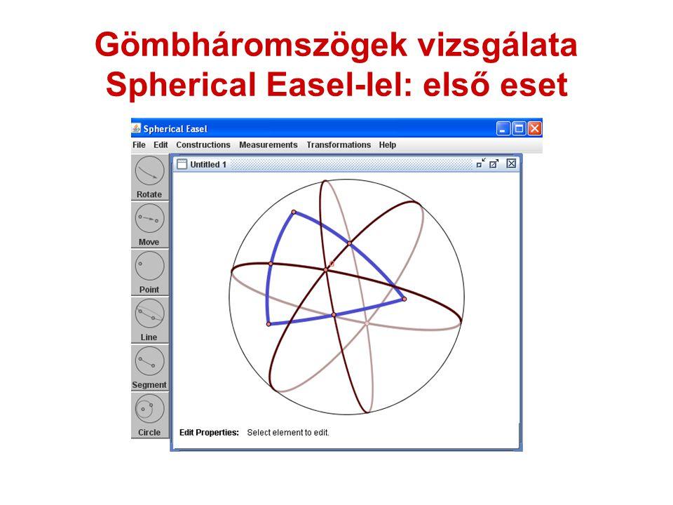 Gömbháromszögek vizsgálata Spherical Easel-lel: első eset