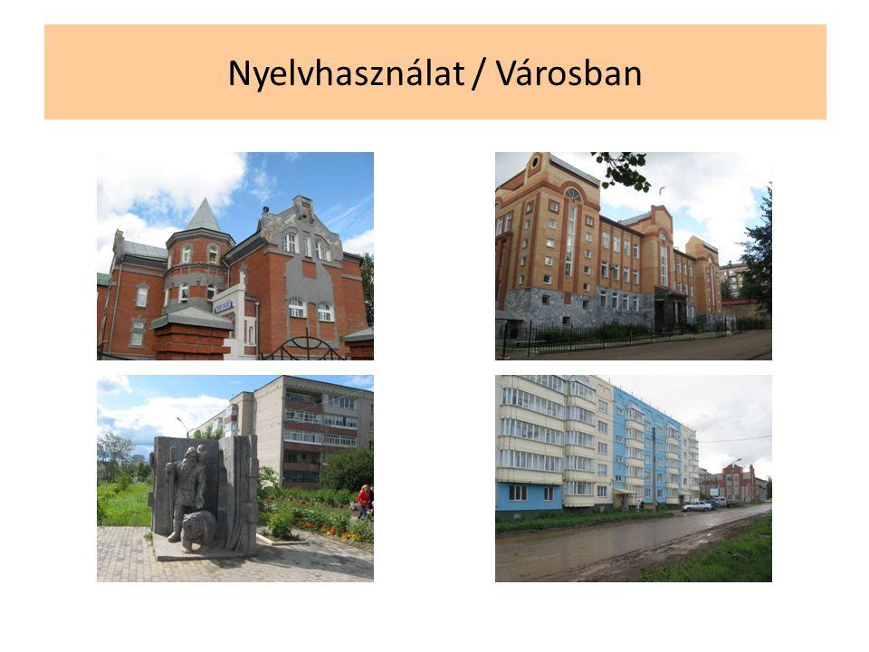 Nyelvhasználat / Városban