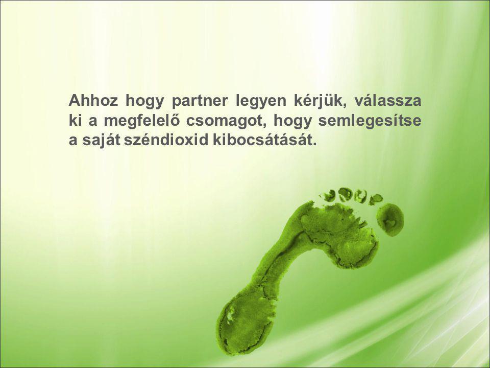 Ahhoz hogy partner legyen kérjük, válassza ki a megfelelő csomagot, hogy semlegesítse a saját széndioxid kibocsátását.