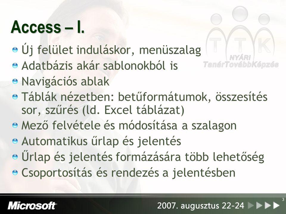 3 Access – I.